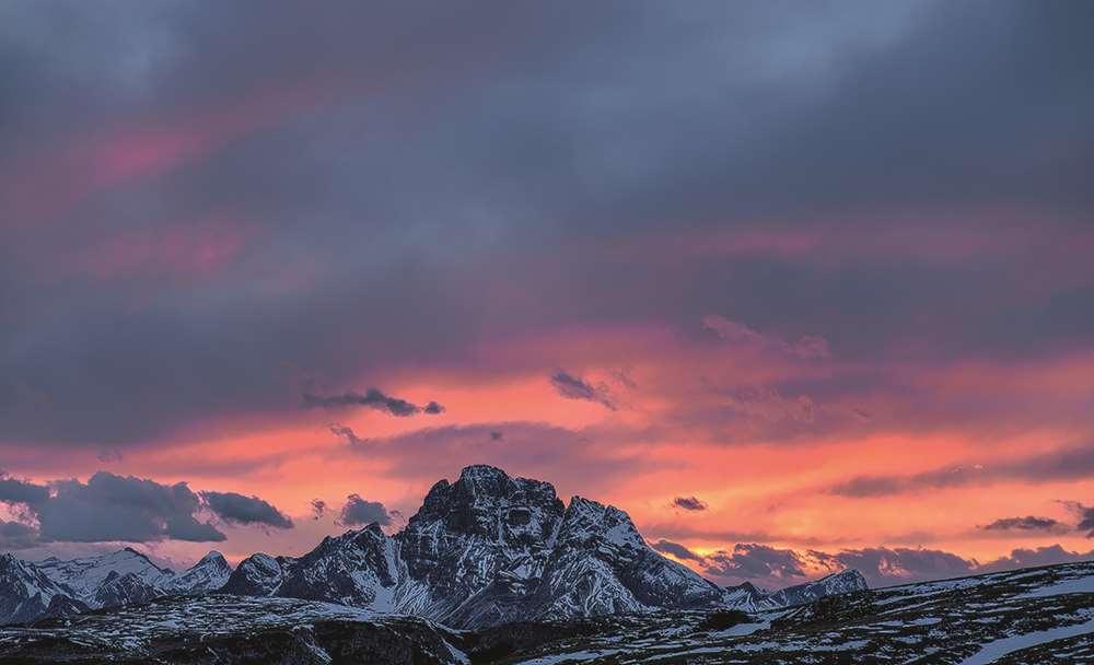 Garagentor Motiv Digitaldruck - Gebirge