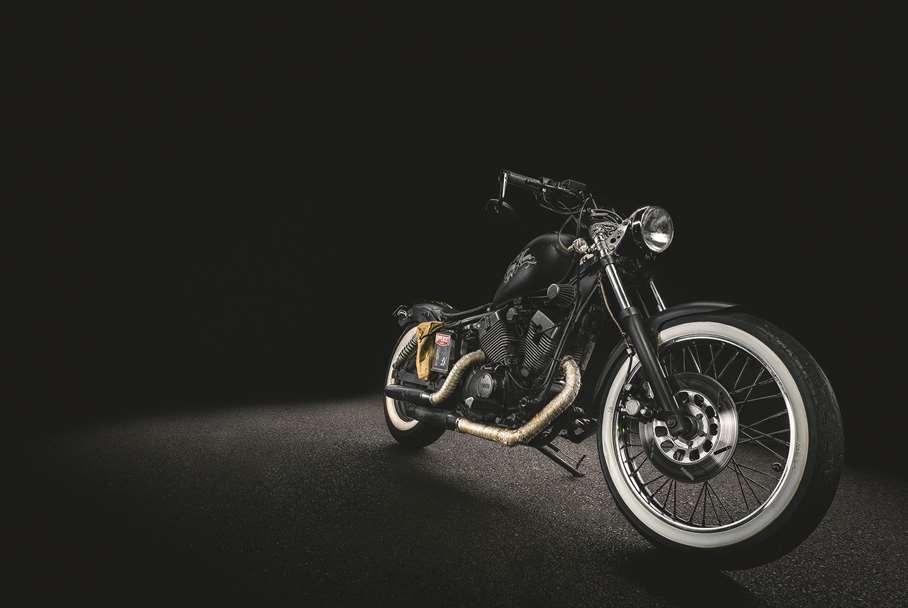 Garagentor Motiv Digitaldruck - Motorrad