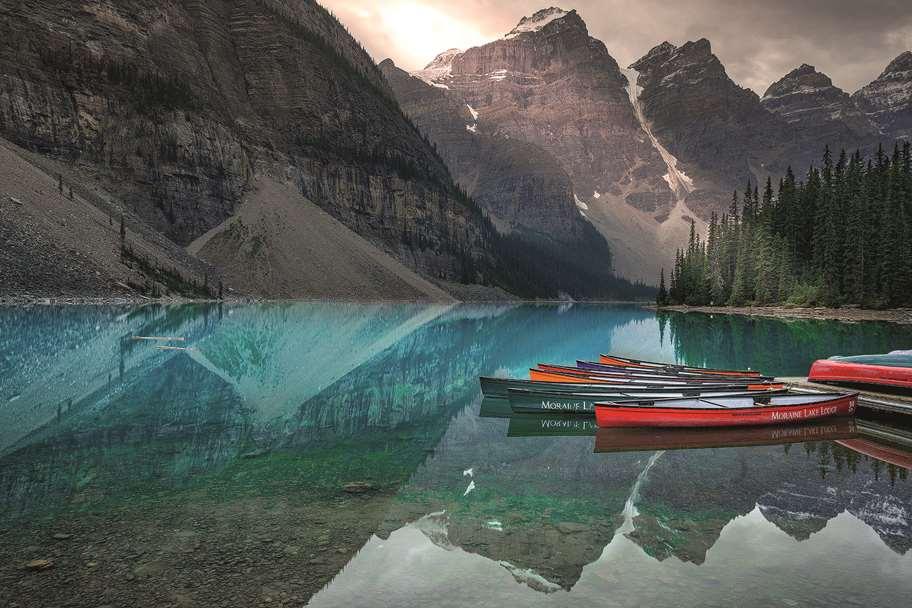 Garagentor Motiv Digitaldruck - Bergsee