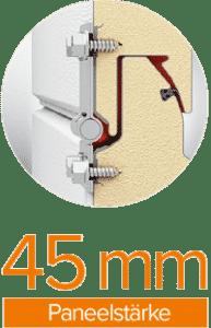Paneelstärke 45 mm | Garagentor Classic