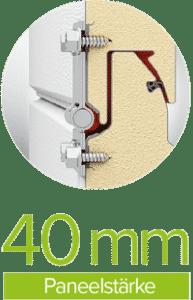 Paneelstärke 40 mm | Garagen Sektionaltor TREND