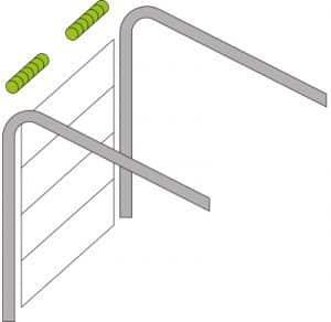 Standardumlenkung Torsionsfedern-System | Garagensektionaltor TREND