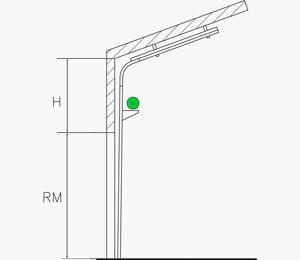 Höhergeführte Umlenkung mit Dachfolge und unten liegender Federwelle | Industrie Sektionaltore