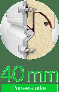 Paneelstärke 40 mm | Sektionaltor ProTrend