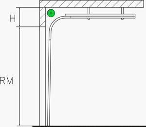 Standard-Umlenkung | Industrie Sektionaltore
