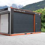 Mobiler Schauraum-Container | Garagentore, Industrietore und Rolltore
