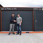 Mobiler Schauraum-Container | Projektleiter Ermin Piljug und Geschäftsführer Walter Strimitzer
