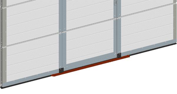 Schlupftür mit Flachschwelle - alte Konstruktion